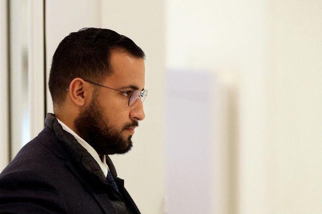 Alexandre Benalla au tribunal de Paris, le 19 février 2019, lors d'une audition avec les juges
