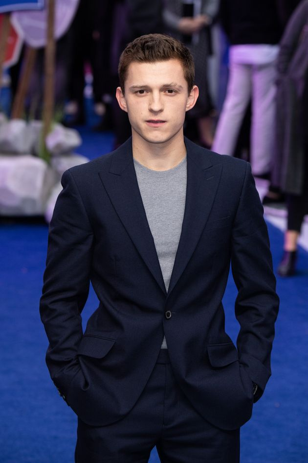 Tom Holland pictured at the Onward premiere last year, back when he still wore
