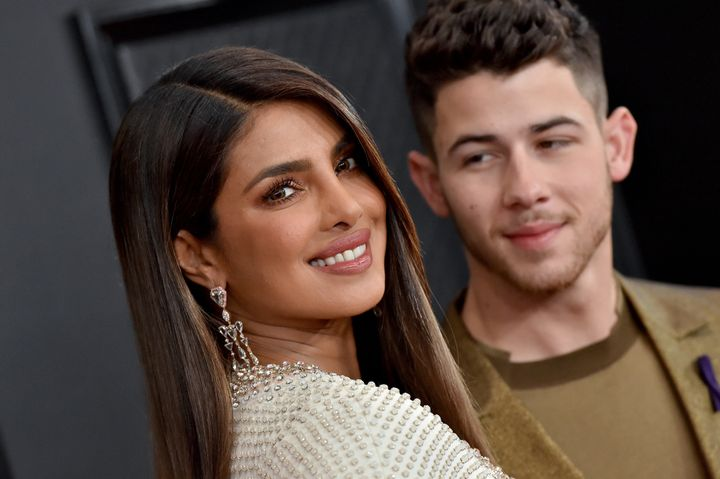 Chopra and husband Nick Jonas attend the 62nd Annual Grammy Awards in Los Angeles in January 2020. Chopra wrote in her memoir