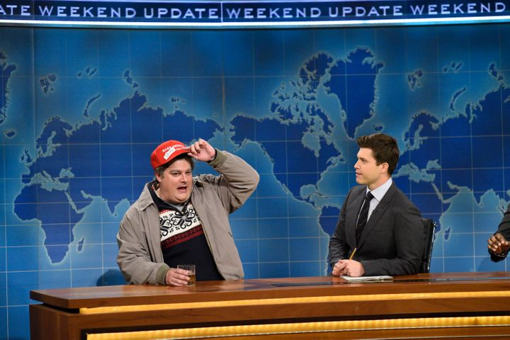 """Bobby Moynihan performs as Drunk Uncle on """"SNL."""""""