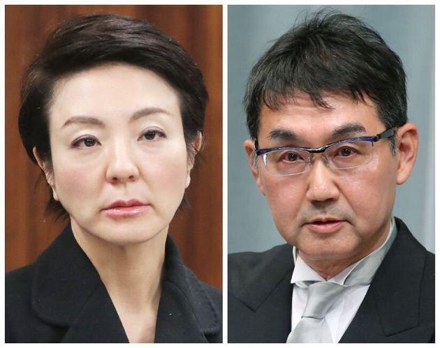 河井案里氏(左)=2020年03月10日と河井克行氏(右)=2019年09月11日