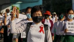 Protests Rock Myanmar For Fifth Day, West Condemns Use Of Force Against