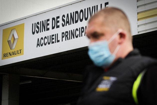 L'usine Renault Sandouville en Seine-Maritime a été mise à l'arrêt le 8 et le 9 février à cause de la...
