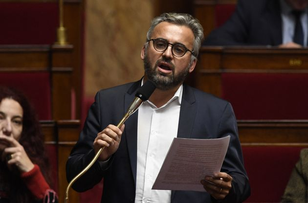 Le député de La France Insoumise Alexis Corbière lors d'une session de questions au gouvernement à l'Assemblée...