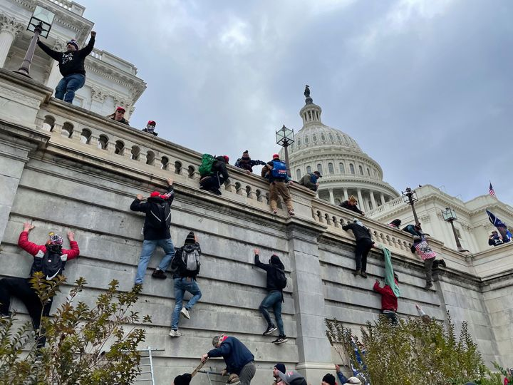 """The U.S. Capitol Building in Washington, D.C. was breached by thousands of protesters during a """"Stop The Steal"""" rally in supp"""
