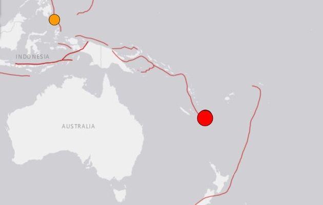 Capture d'écran du site de l'Institut de géophysique américain (USGS) qui a donné l'alerte ce mercredi...