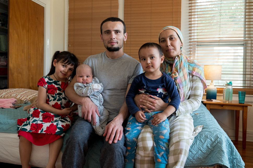 Muhammad spends time with his wife and three children at the San Antonio