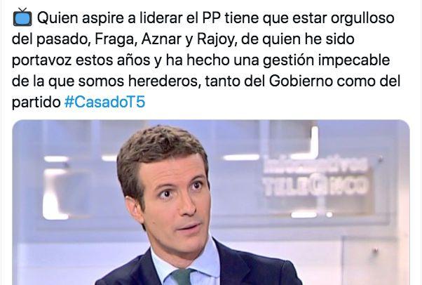 Tuit de Pablo Casado de julio de