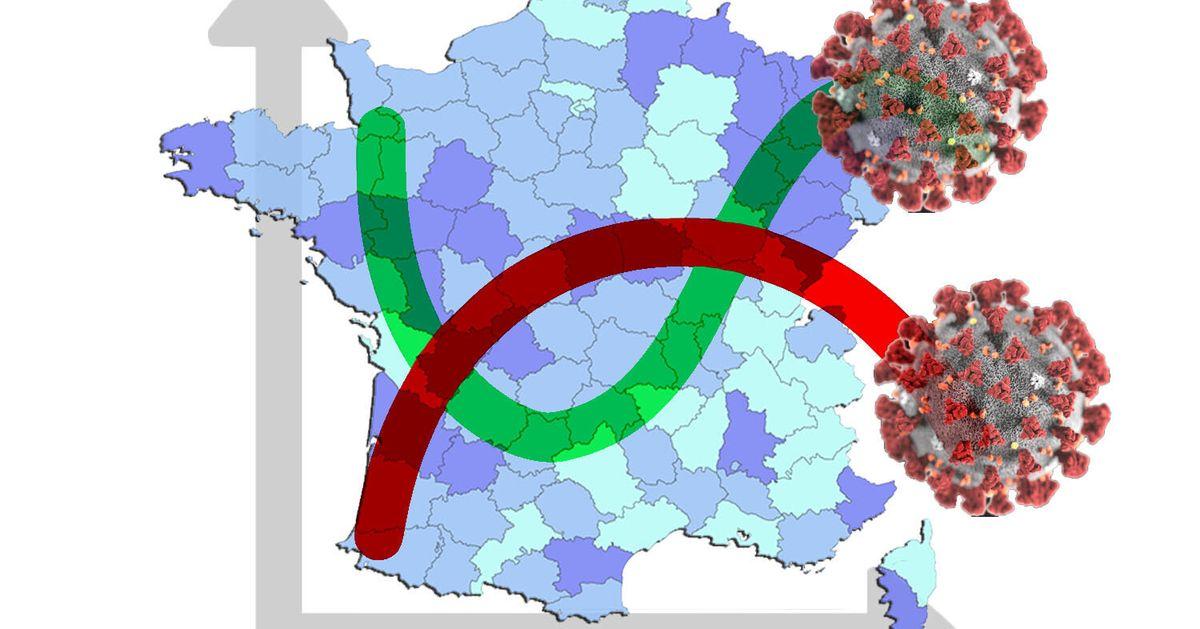 Les courbes et cartes pour comprendre l'épidémie à l'épreuve du variant - Le HuffPost