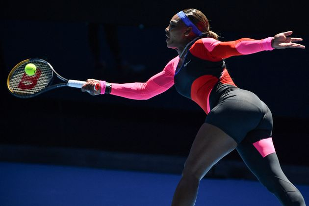 Serena Williams avec sa toute nouvelle tenue à l'Open d'Australie (Photo Paul CROCK /