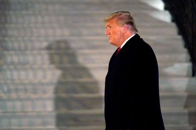 Donald Trump à Washington le 12 janvier 2021 (AP Photo/Gerald Herbert,