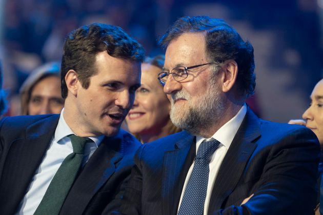 Casado y Rajoy en el congreso extraordinario del
