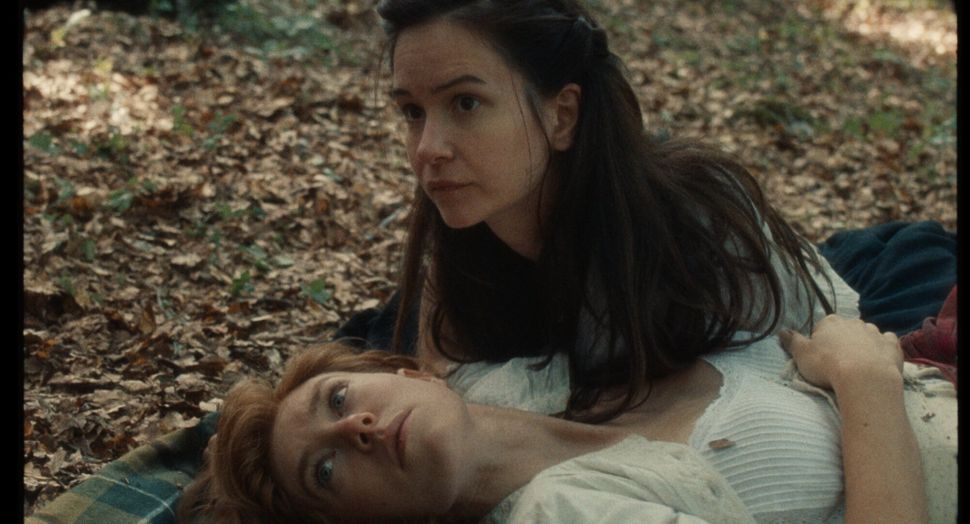 "Vanessa Kirby with Waterston in ""The World to Come."""
