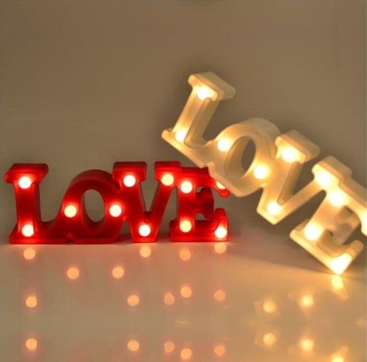 Φωτιστικό LOVE με led φωτάκια