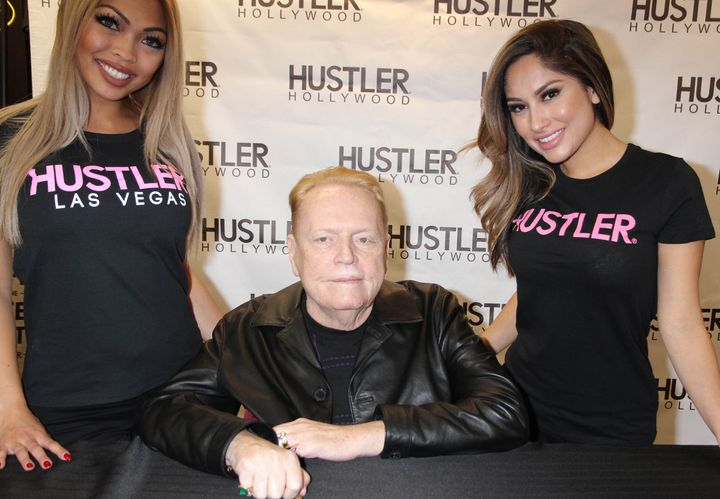 In this 2016 file photo, Larry Flynt did a signing at the new Hustler Hollywood Store in Las Vegas.