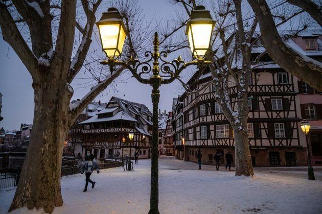Strasbourg sous la neige, le mercredi 10 février