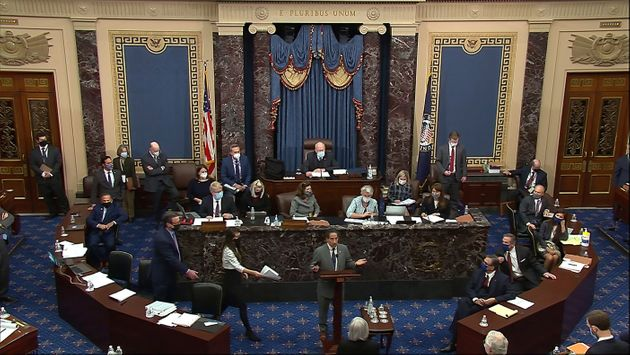 Vista general del salón de plenos del Senado de EEUU, durante el