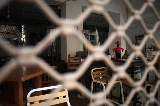 Imagen de un bar de Málaga cerrado por las restricciones el 2 de febrero de 2021 (Jesus Merida/SOPA...
