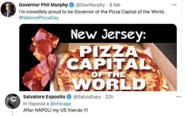 Il tweet del governatore del New Jersey Phil