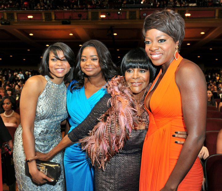 From left to right: Taraji P. Henson, Octavia Spencer, Tyson and Viola Davis at the NAACP Image Awards in February 2012.&nbsp;<i>Alberto E. Rodriguez via Getty Images</i>
