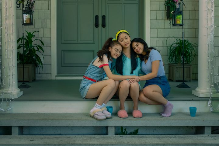 The Covey sisters (from left to right): Kitty (Anna Cathcart), Lara Jean (Lana Condor) and Margot (Janel Parrish).