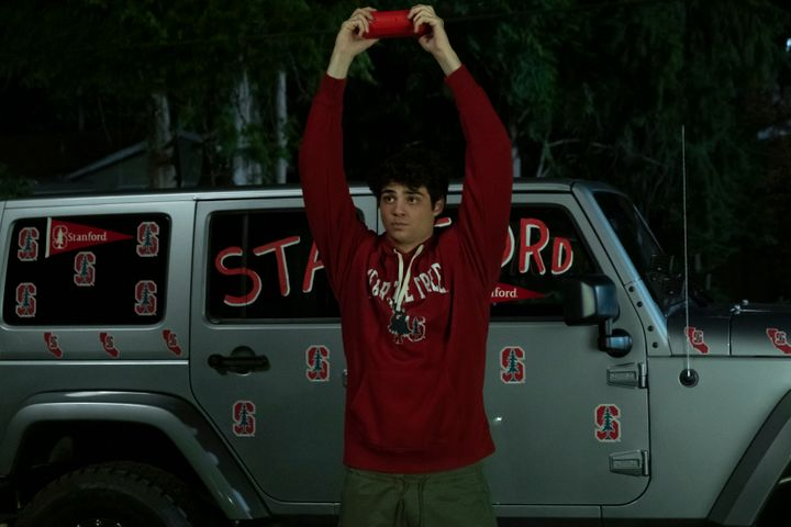 "Peter Kavinsky (Noah Centineo) channeling John Cusack from ""Say Anything ... """