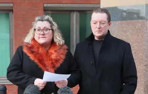 Squire's parents address the media after the conviction of their daughter's