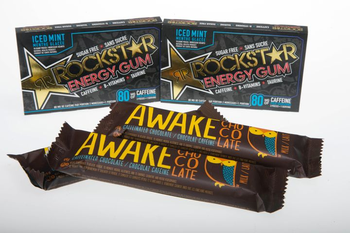 Each bar of Awake contains 110 mg of caffeine, compared to a standard cup of brewed coffee's 85 mg.
