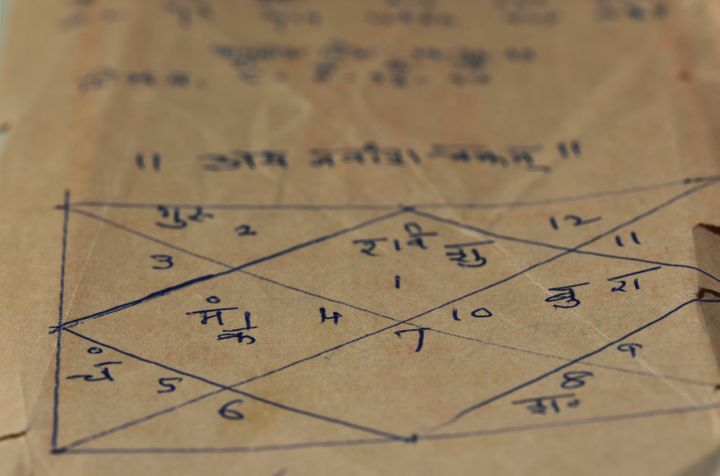An example of a Vedic astrology chart.