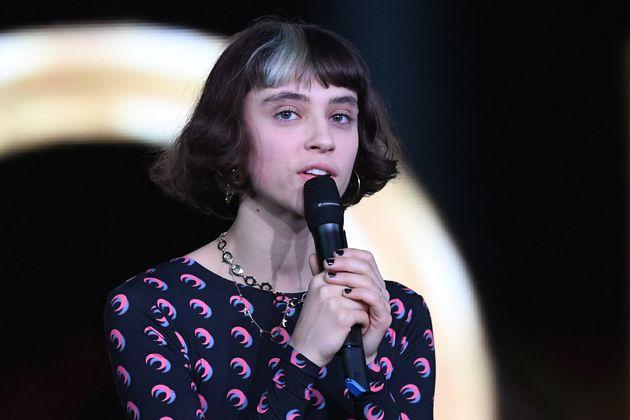 La chanteuse Pomme le 14 février 2020 lors des 35e Victoires de la musique (Photo by Alain JOCARD /