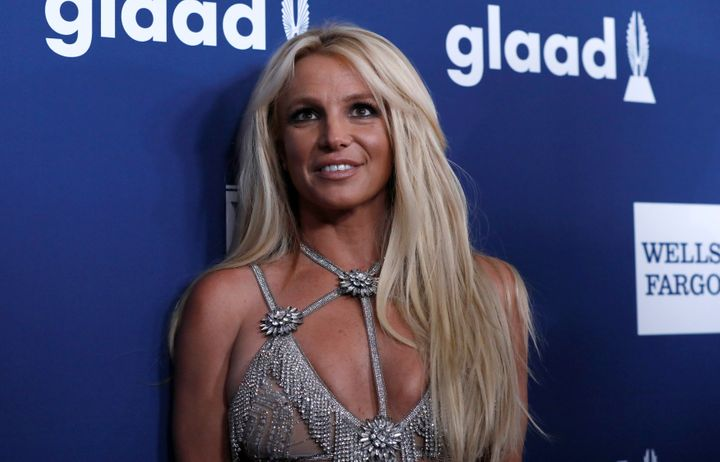 Singer Britney Spears on April 12, 2018, at the GLAAD Awards.