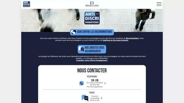 Capture d'écran du site antidiscriminations.fr, mis en ligne le vendredi 12 février