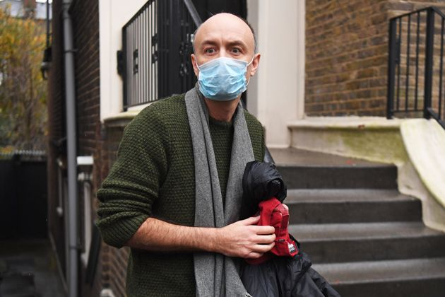 Dominic Cummings outside his north London home after he resigned from his role as Prime Minister Boris...