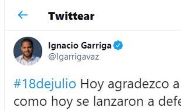 El tuit de Ignacio