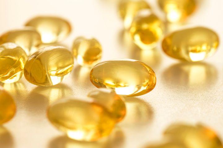 Cápsulas vitamina D.