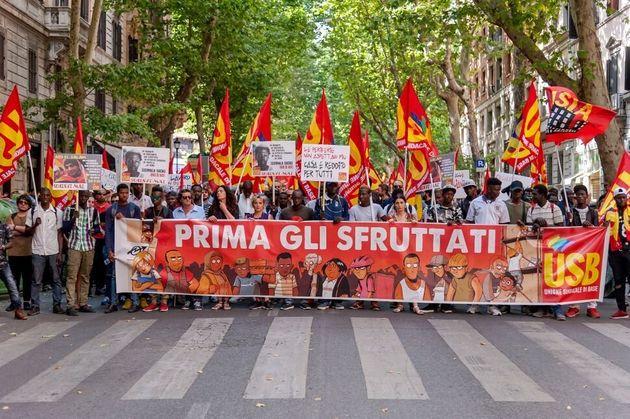 Anti-racist demonstration in June 2018 in