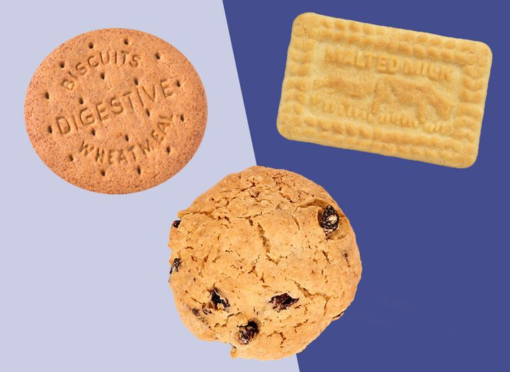Digestives, malted milks and Maryland cookies are among the least favoured biscuits.