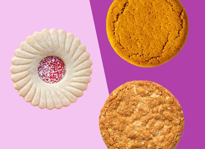 Hobnobs, jammie dodgers and ginger nuts came in joint sixth place.