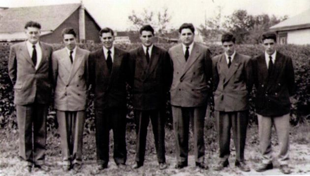 The writer's grandfather, far left, stands with his sons in a photo dated 1951. The writer's father,...