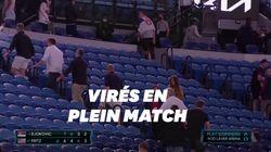 Confinement oblige, le match de Djokovic interrompu pour que les spectateurs quittent le