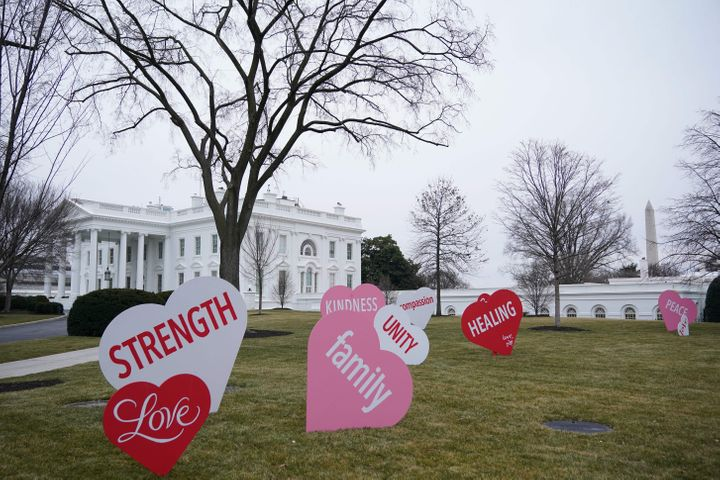 Jill Biden's Valentine to Americans was installed overnight as a surprise.