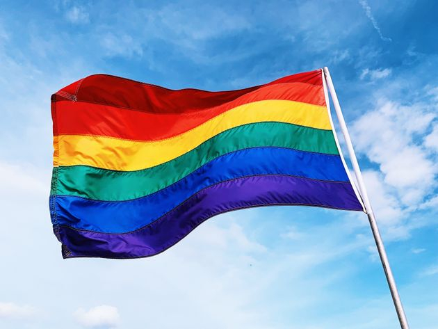 A rainbow flag celebrating LGBTQ+