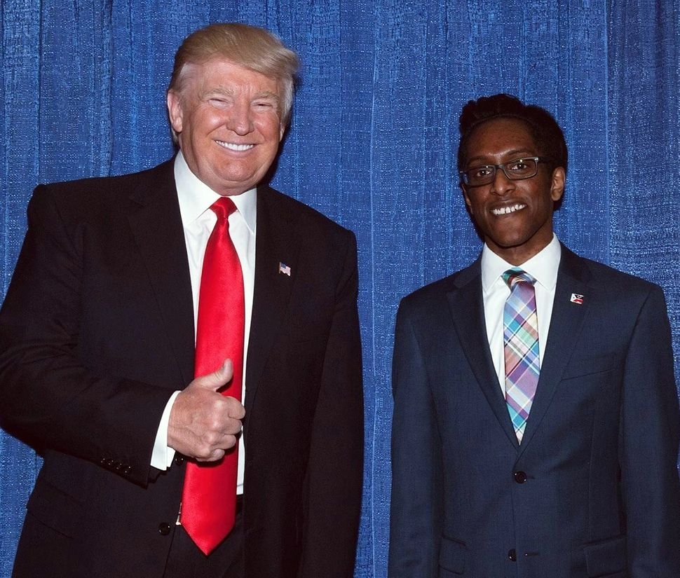 Donald Trump with Ali Alexander at a GOP gathering.