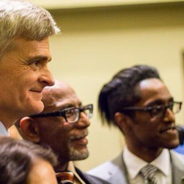 Sen. Bill Cassidy (R-La.), GOP Louisiana state Sen. Elbert Guillory and Ali Alexander.