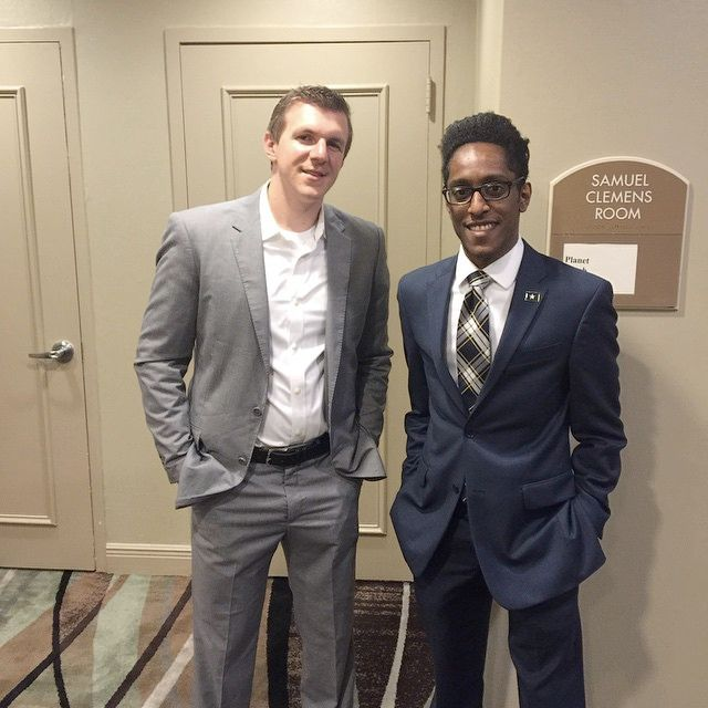 James O'Keefe with Ali Alexander in Baton Rouge.