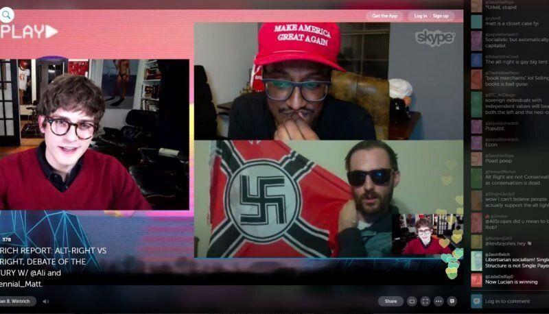 Lucian Wintrich and Ali Alexander host alt-right member Matt Colligan on Wintrich's podcast.
