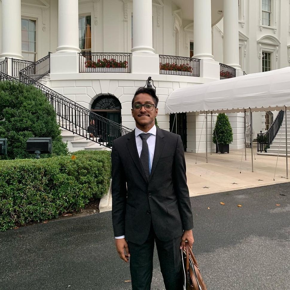 Ali Alexander at the White House for Trump's social media summit in 2019.