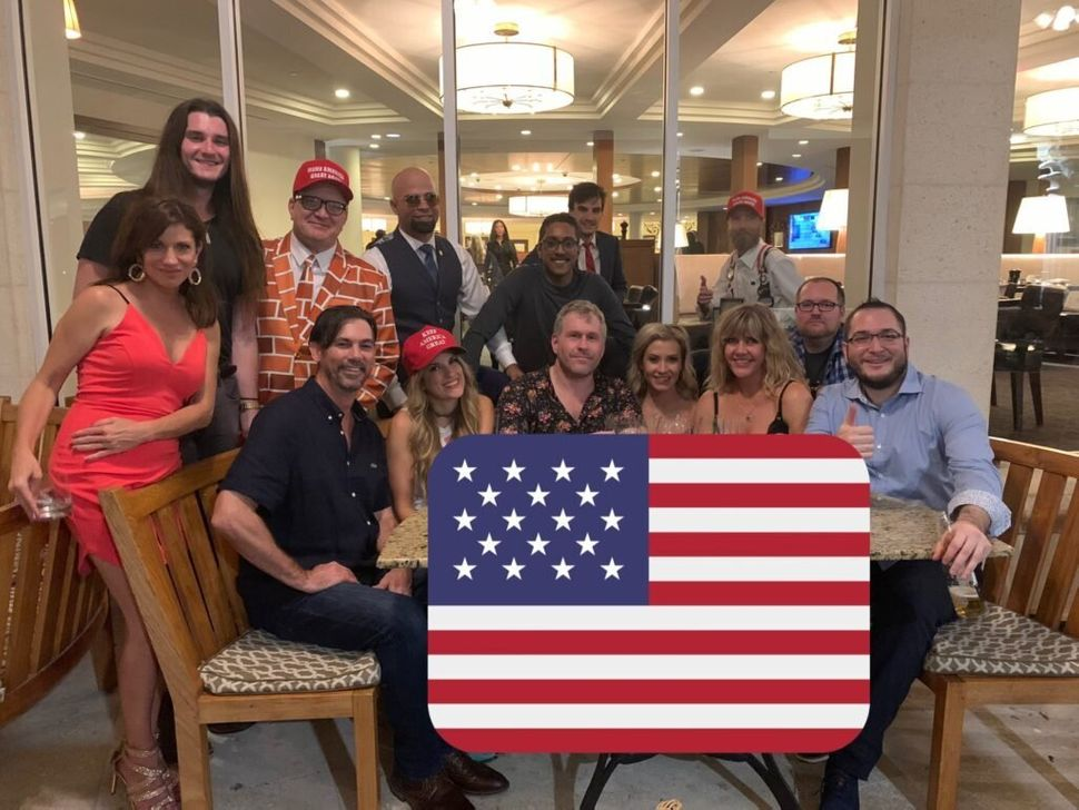 Ali Alexander with Scott Presler, Enrique Tarrio, Mike Cernovich, Logan Cook and several Stop the Steal accomplices at the Tr