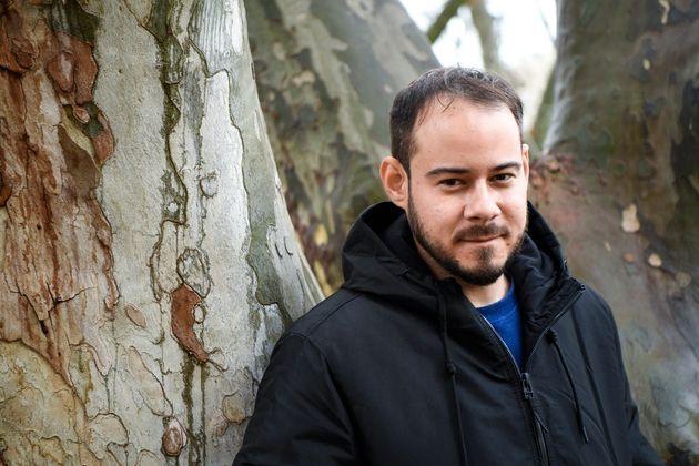 Le rappeur Pau Rivadulla, alias Pablo Hasel, ici à Lleida en Espagne, le 12 février