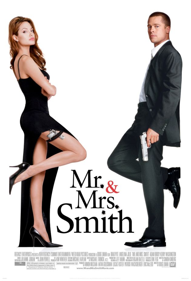 Angelina Jolie and Brad Pitt starred in the original big screen version of Mr & Mrs Smith in